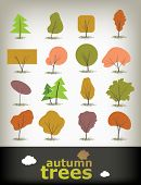 Vector Autumn Tree Set