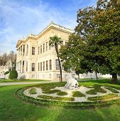 dolmabahce palace at autumn - istanbul turkey