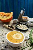 Pumpkin soup - Traditional seasonal pumpkin soup