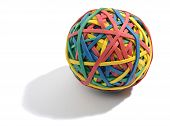 Colorful Ball Composed Of Rubber Bands