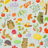 Pattern With Owls