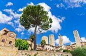 City walls and towers of San Gimignano, Tuscany