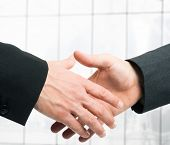Handshake between businessmen