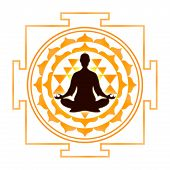picture of sri yantra  - Illustration of meditation with the sri yantra - JPG