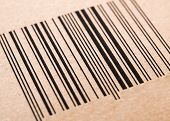Bar Code Printed On A Cardboard