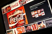 Belgrade - Januar 29, 2014: Google Image Search For Coca Cola Logo Photos On Pc Screen