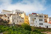 Tangier, Morocco. Old Colorful Living Houses In Medina