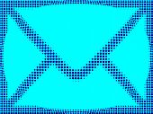 email mail blue sign