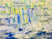 Abstract Textured Background In Blue, Yellow Spectrum