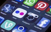 Belgrade - July 05, 2014 Popular Social Media Icons On Smartphone Screen