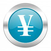 yen internet blue icon