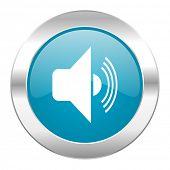 volume internet blue icon
