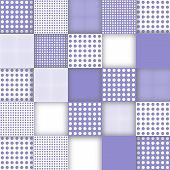 Squared Mosaic-textured In Purple