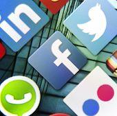 Belgrade - March 10, 2014: Social Media Icon Facebook On Smart Phone Screen