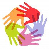 Hand Print icon 5 colors