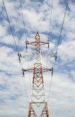 Medium voltage power line pole