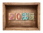 Wooden 2015 new year concept.