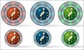 Set Of Six Icons With Flash Symbol