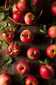 Raw Organic Red Apples