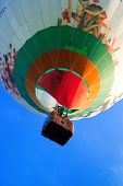 Colorful flying balloon