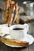 Coffee With Italian Cookies.