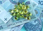 picture of zloty  - Background of the polish national currency zloty - JPG