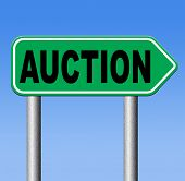 nternet auction icon bid and buy online