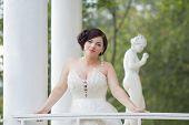 The bride in the gazebo