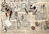 Antique Accessories, Sewing And Writing Tools, Vintage Advertising