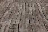 image of wainscoting  - old gray wood flooring on the street - JPG