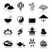 China icons set black