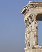 Caryatides ancient Greek women statues