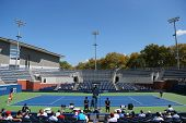 US Open 2014 girls junior final  match between Marie Bouzkova and Anhelina Kalinina