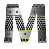 Perforated Metal Letter M