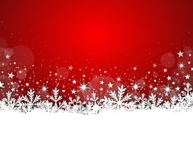 foto of freezing  - Illustration of winter red christmas background with stars - JPG