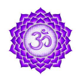 picture of tantra  - Illustration of a purple crown chakra mandala - JPG