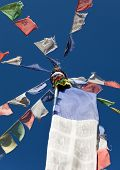 Tibetan Prayer Flags In Nepal
