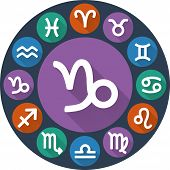 Astrological Signs Of The Zodiac In Circle - Capricorn
