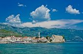 Montenegro, Budva, Old Town View. Adriatic Sea Beach