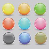 Set Of Colored Balls