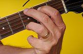 picture of g-string  - Finger position for a G Major guitar chord - JPG