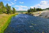 River In The Midway Geyser Basin In Yellowstone National Park, Wyoming