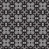 Seamless vintage black-and-white pattern