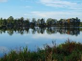 picture of bohemia  - evening at the lake - JPG