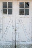 Rustic warehouse white door