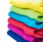 Colorful Socks Isolated On White Background