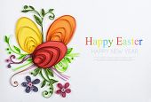 Crafts With Their Hands Of Quilling On A Holiday Theme Happy Easter