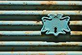 Old Steel Roll Shutter Lock