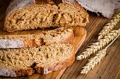 Fresh Rye Bread On A Cutting Board