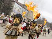 Surva Mask Costume Festival Fire